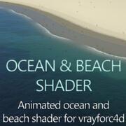Анимированный шейдер пляжа и океана 3d model