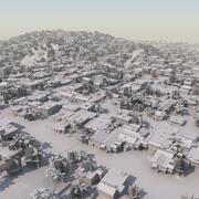 Slum City Massenmodell 3d model