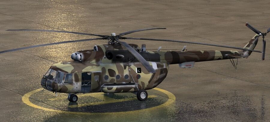 Mil-17 Pakistan Airforce royalty-free 3d model - Preview no. 1