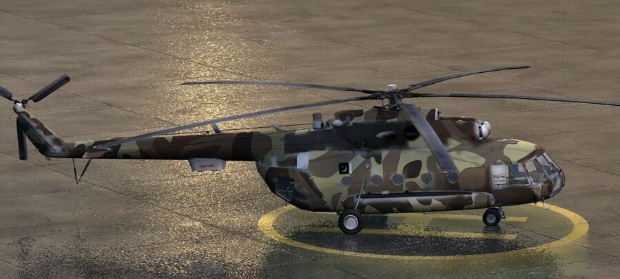 Mil-17 Pakistan Airforce royalty-free 3d model - Preview no. 5