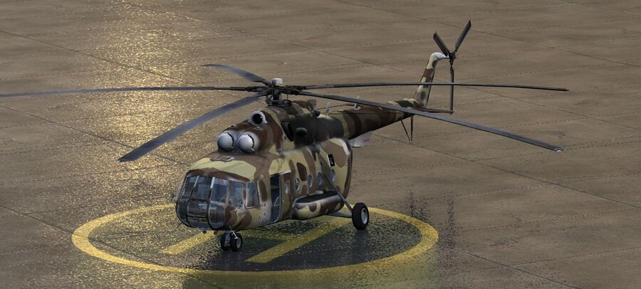 Mil-17 Pakistan Airforce royalty-free 3d model - Preview no. 2