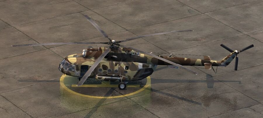 Mil-17 Pakistan Airforce royalty-free 3d model - Preview no. 8