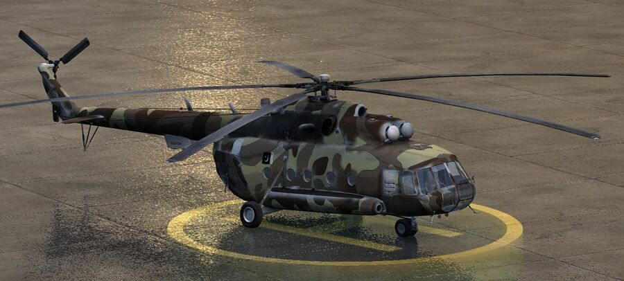 Mil-17 Pakistan Airforce royalty-free 3d model - Preview no. 4