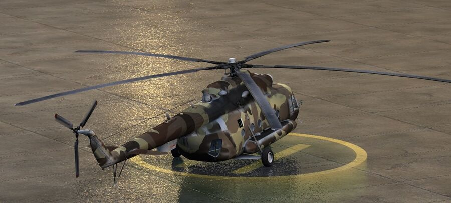 Mil-17 Pakistan Airforce royalty-free 3d model - Preview no. 6