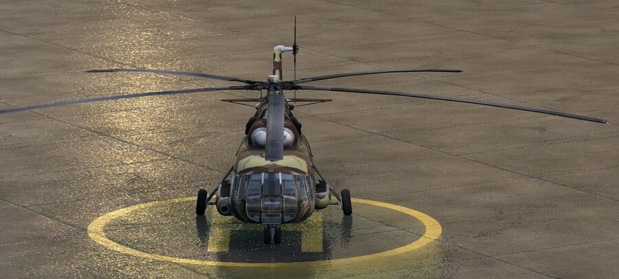 Mil-17 Pakistan Airforce royalty-free 3d model - Preview no. 3