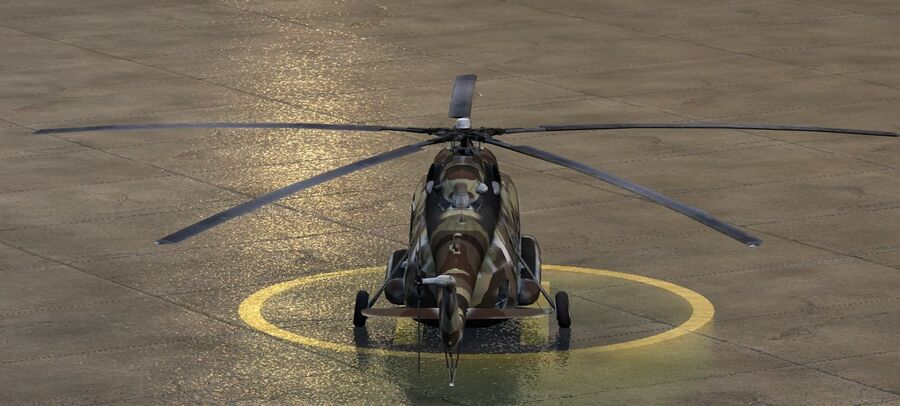 Mil-17 Pakistan Airforce royalty-free 3d model - Preview no. 7