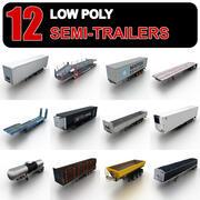 Low Poly Semi-trailers 3d model