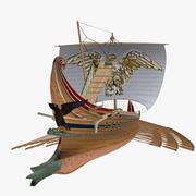 Barco de batalla romano Trirreme modelo 3d
