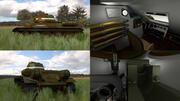 Tanque T34 / 76 com HDRI Camo interno 3d model