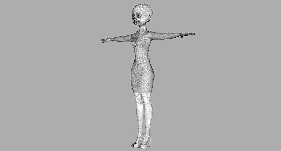 天使卡通女人女孩女企业家 royalty-free 3d model - Preview no. 44