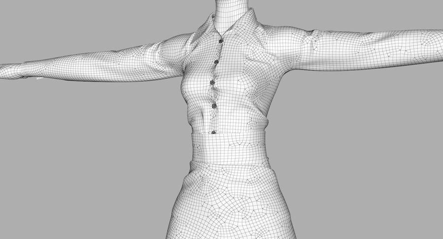 天使卡通女人女孩女企业家 royalty-free 3d model - Preview no. 47