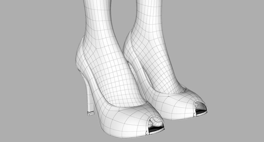 天使卡通女人女孩女企业家 royalty-free 3d model - Preview no. 37