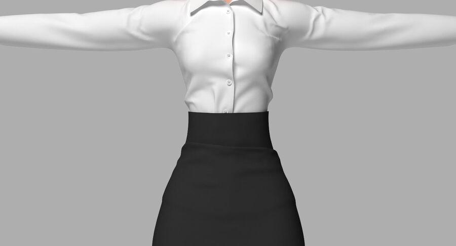 天使卡通女人女孩女企业家 royalty-free 3d model - Preview no. 23