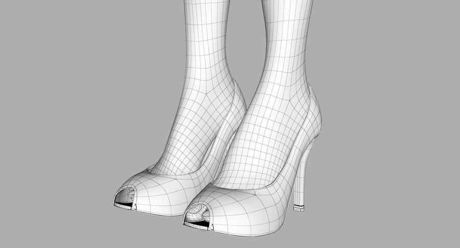 天使卡通女人女孩女企业家 royalty-free 3d model - Preview no. 36
