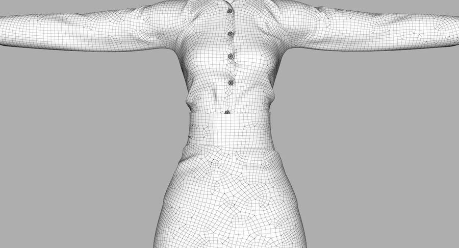天使卡通女人女孩女企业家 royalty-free 3d model - Preview no. 48