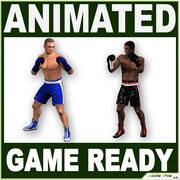 Jugadores Low Poly Boxer modelo 3d