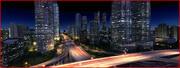 Ciudad Moderna Animada 002 modelo 3d