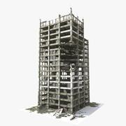 被毁的建筑物 3d model