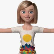 Sophia Cartoon Woman Girl Female 3d model