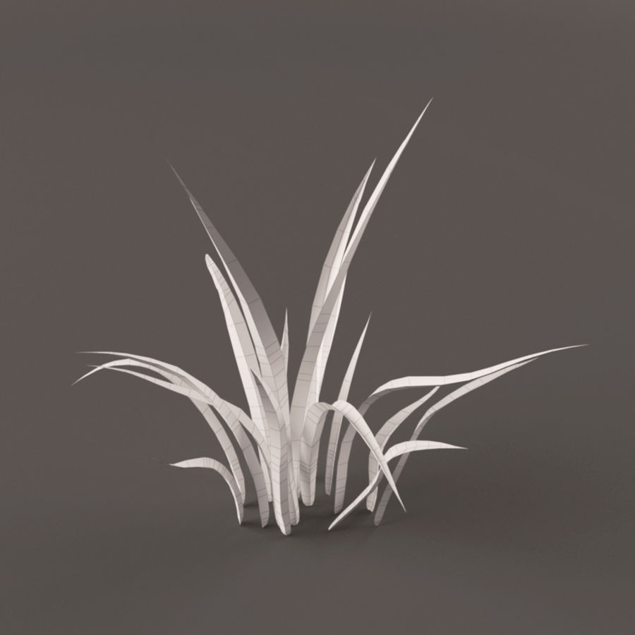 Grass Clump royalty-free 3d model - Preview no. 6