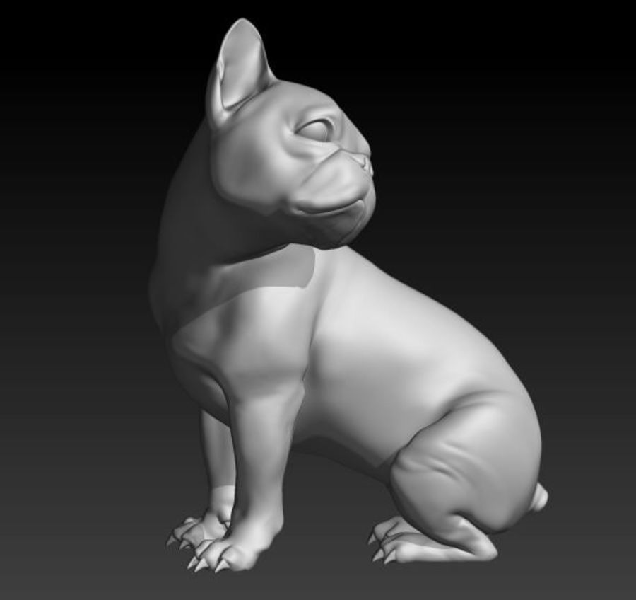 Französische Bulldogge1 royalty-free 3d model - Preview no. 2