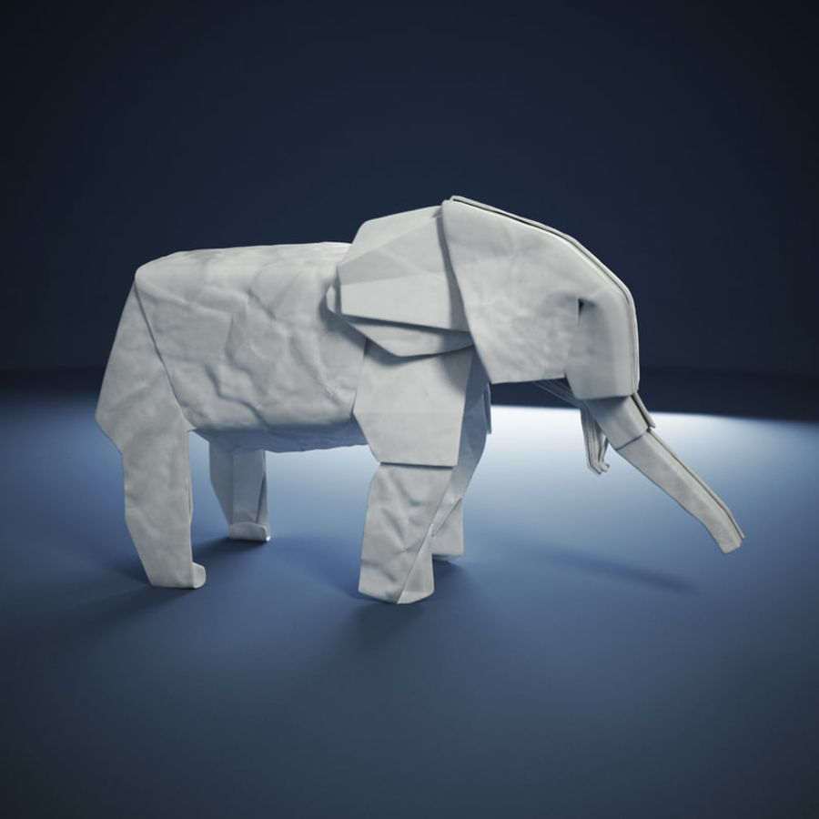 Origami Elephant Royalty Free 3d Model