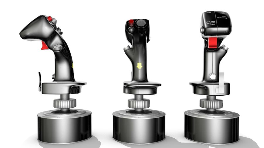 Joystick Warthog royalty-free 3d model - Preview no. 7