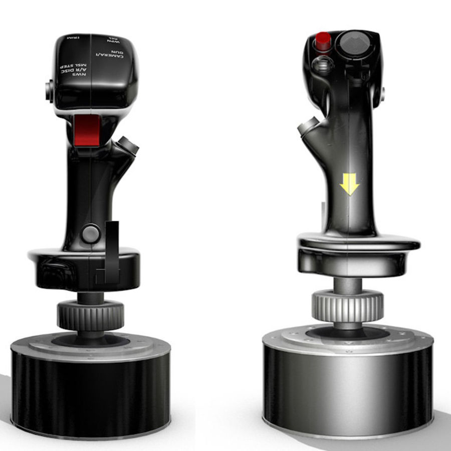 Joystick Warthog royalty-free modelo 3d - Preview no. 1