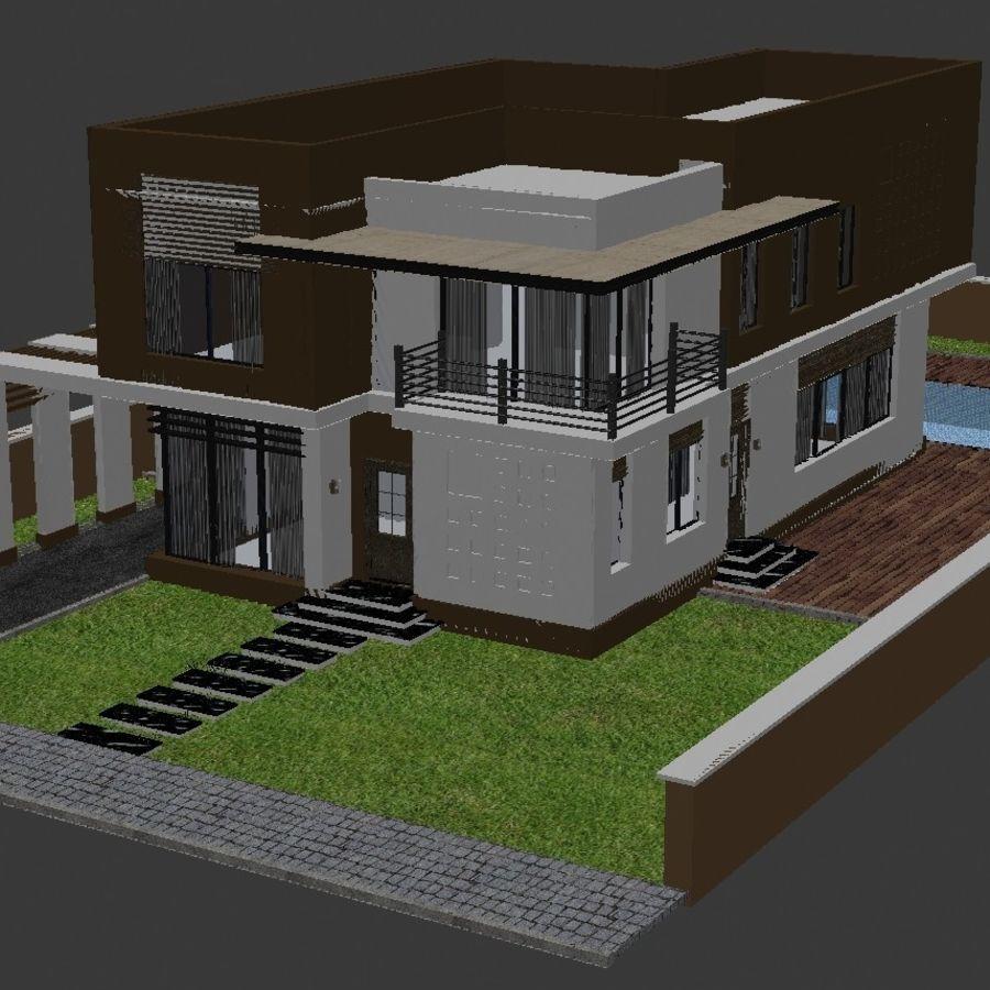Modern Villa 01 royalty-free 3d model - Preview no. 3