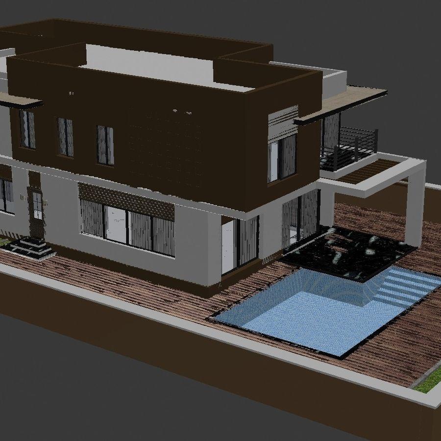 Modern Villa 01 royalty-free 3d model - Preview no. 4