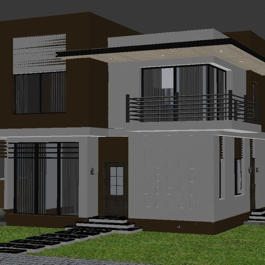 Modern Villa 01 royalty-free 3d model - Preview no. 5