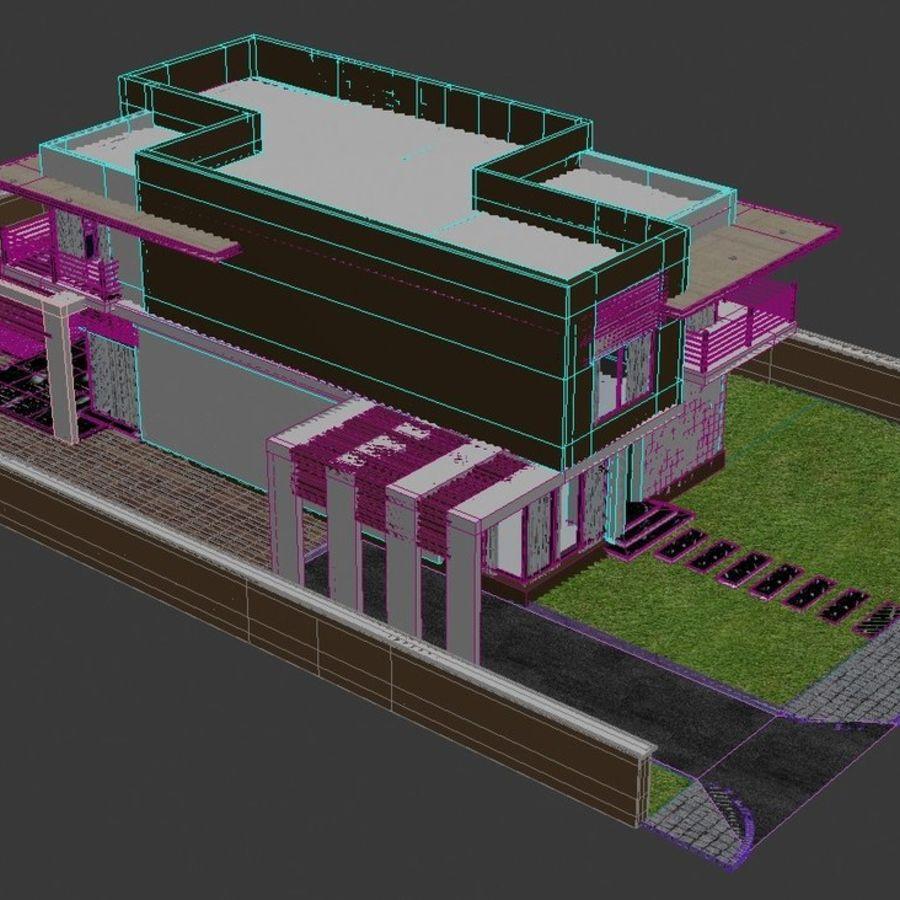 Modern Villa 01 royalty-free 3d model - Preview no. 8