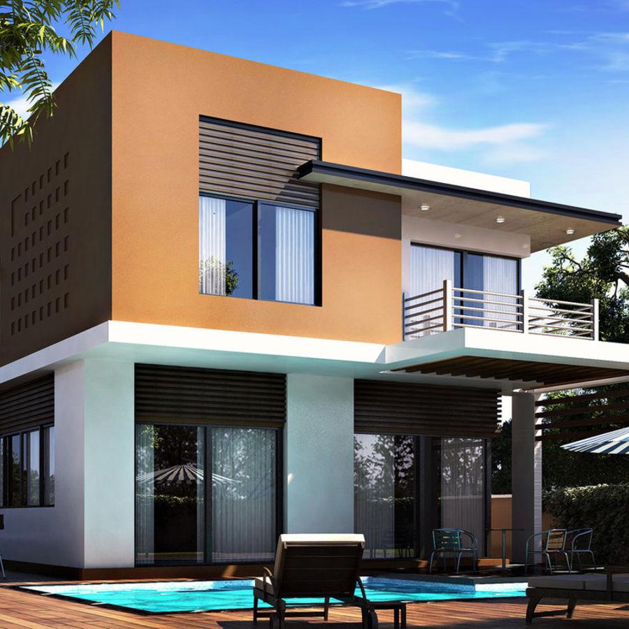 Modern villa 01 3d model 25 obj max fbx 3ds free3d for Model villa moderne