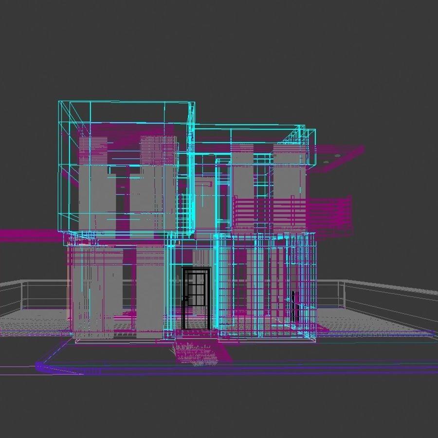 Modern Villa 01 royalty-free 3d model - Preview no. 9
