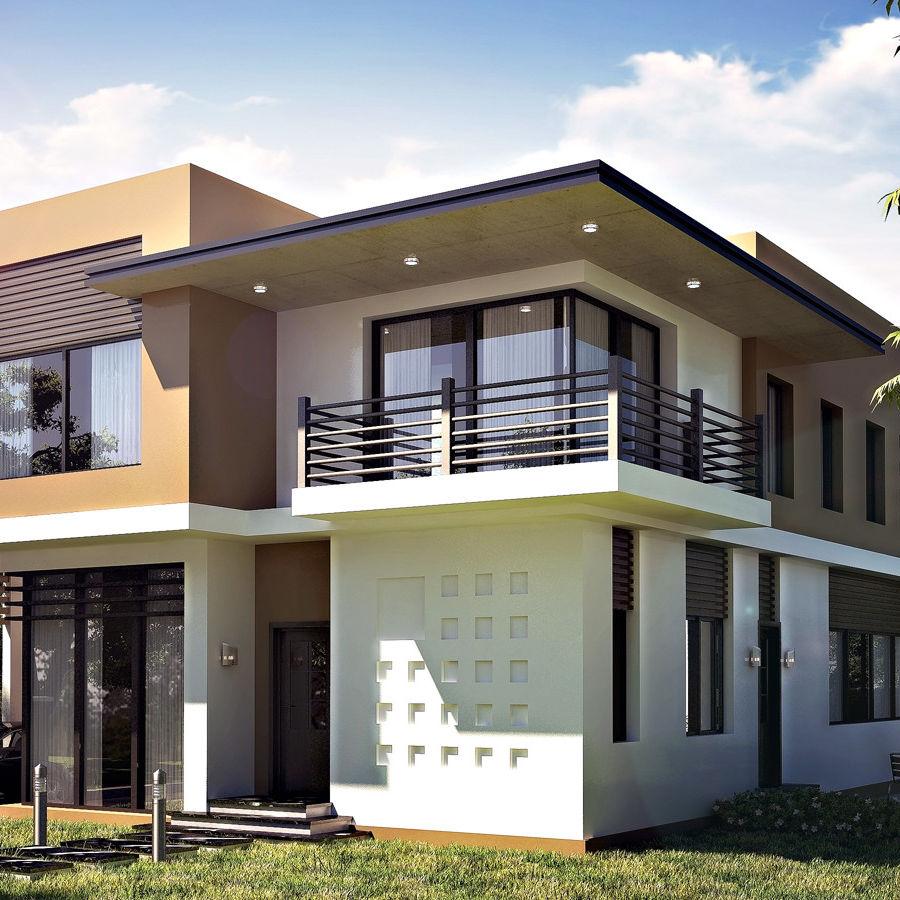 modern villa 01 3d model 25 obj max fbx 3ds free3d. Black Bedroom Furniture Sets. Home Design Ideas