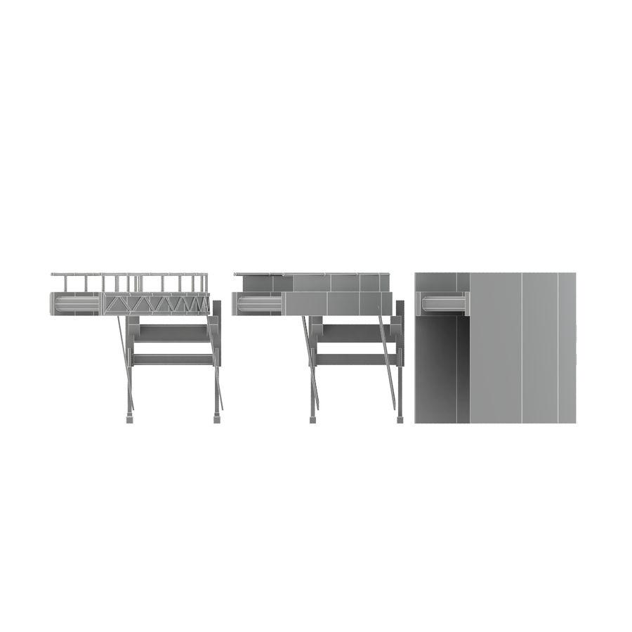 Bande transporteuse LOD - Section incurvée et droite royalty-free 3d model - Preview no. 10