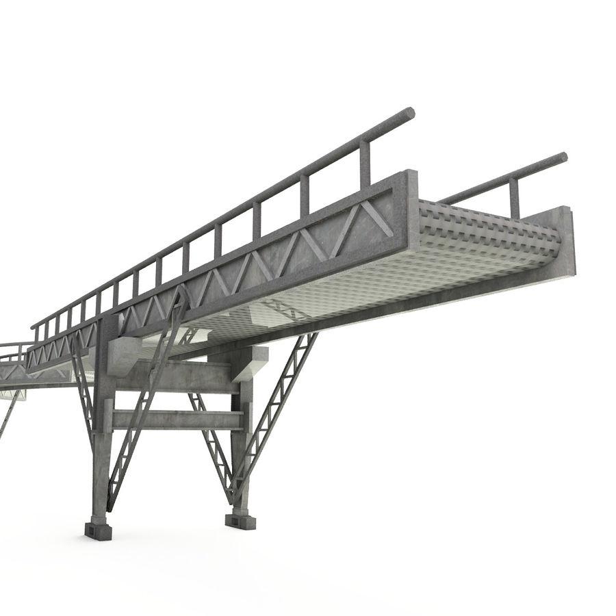 Correia transportadora LOD - seção curva e reta royalty-free 3d model - Preview no. 5