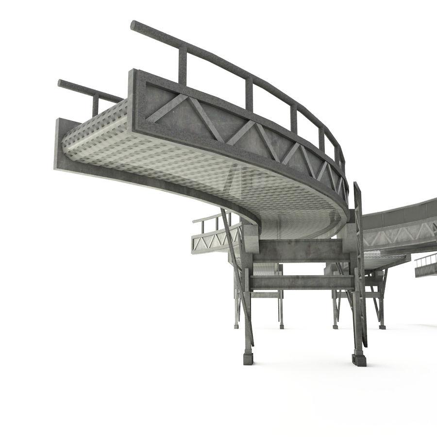 Correia transportadora LOD - seção curva e reta royalty-free 3d model - Preview no. 4