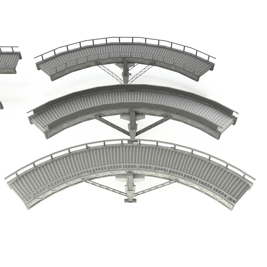 Bande transporteuse LOD - Section incurvée et droite royalty-free 3d model - Preview no. 2