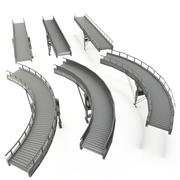 Conveyor Belt LOD - Curved and straight Section 3d model