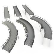 컨베이어 벨트 LOD - 곡선 및 직선 단면 3d model