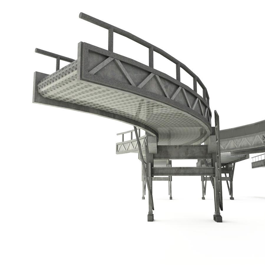 Bande transporteuse LOD - Section incurvée et droite royalty-free 3d model - Preview no. 4