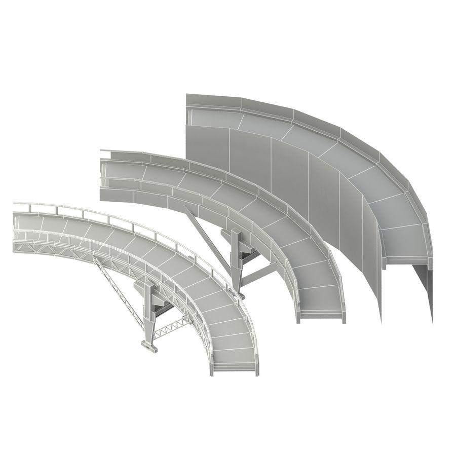 Correia transportadora LOD - seção curva e reta royalty-free 3d model - Preview no. 9