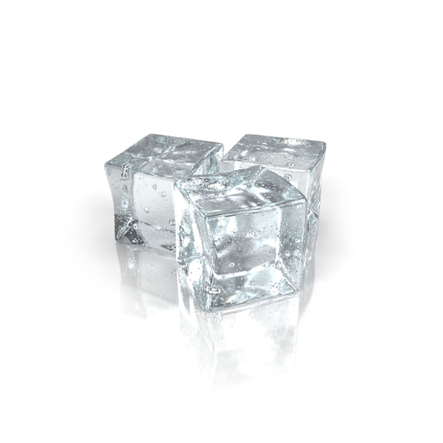 Ice Cubes royalty-free 3d model - Preview no. 2