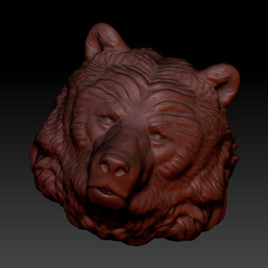 Bear head royalty-free 3d model - Preview no. 1