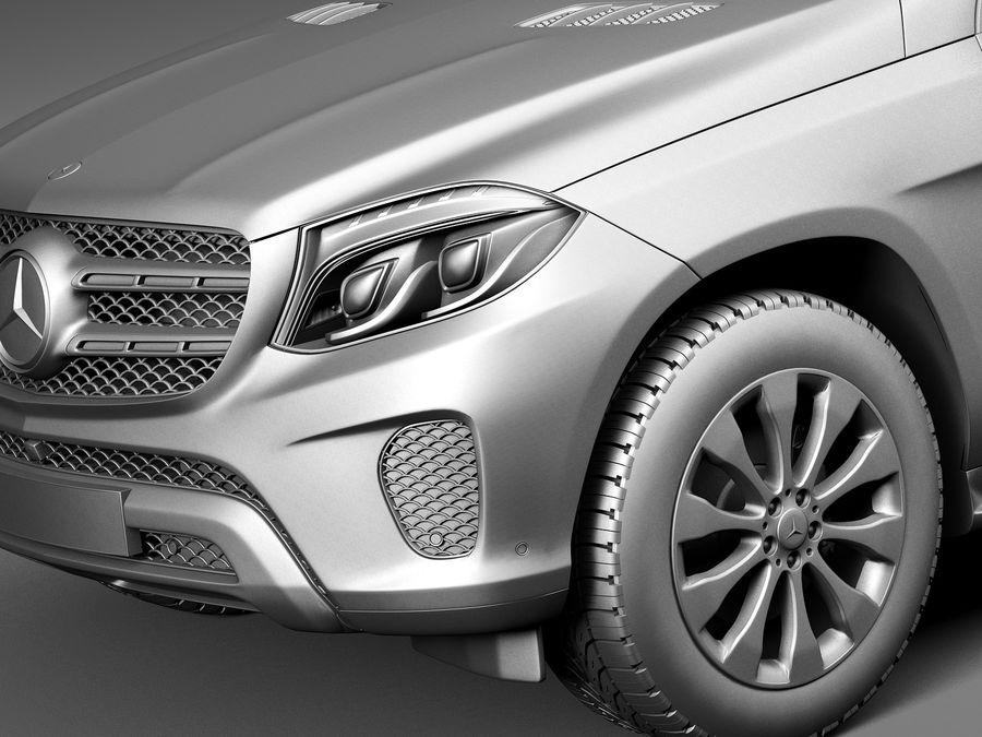 Mercedes-Benz GLS 2017 royalty-free 3d model - Preview no. 10