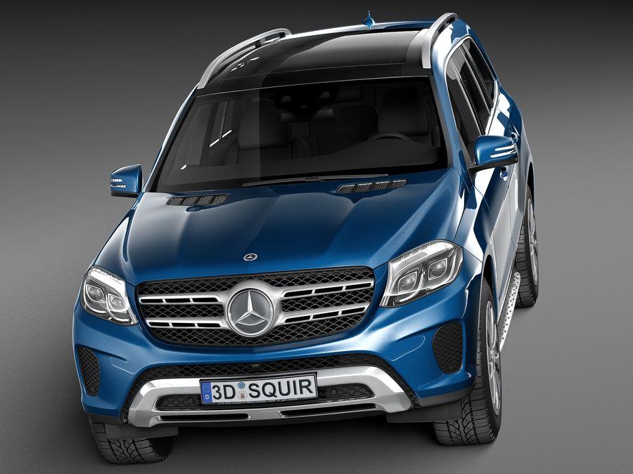 Mercedes-Benz GLS 2017 royalty-free 3d model - Preview no. 2