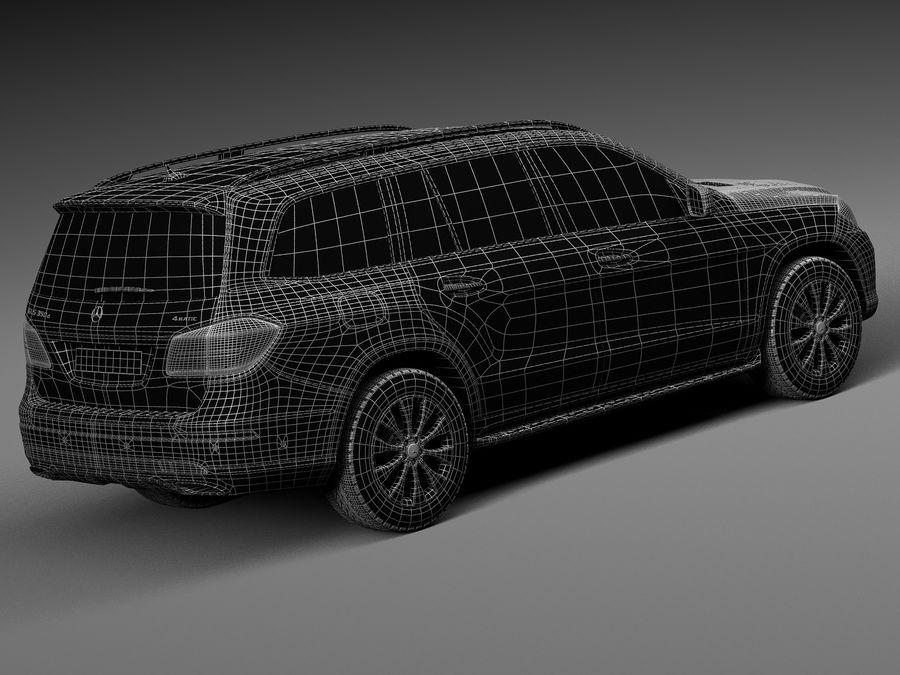 Mercedes-Benz GLS 2017 royalty-free 3d model - Preview no. 16