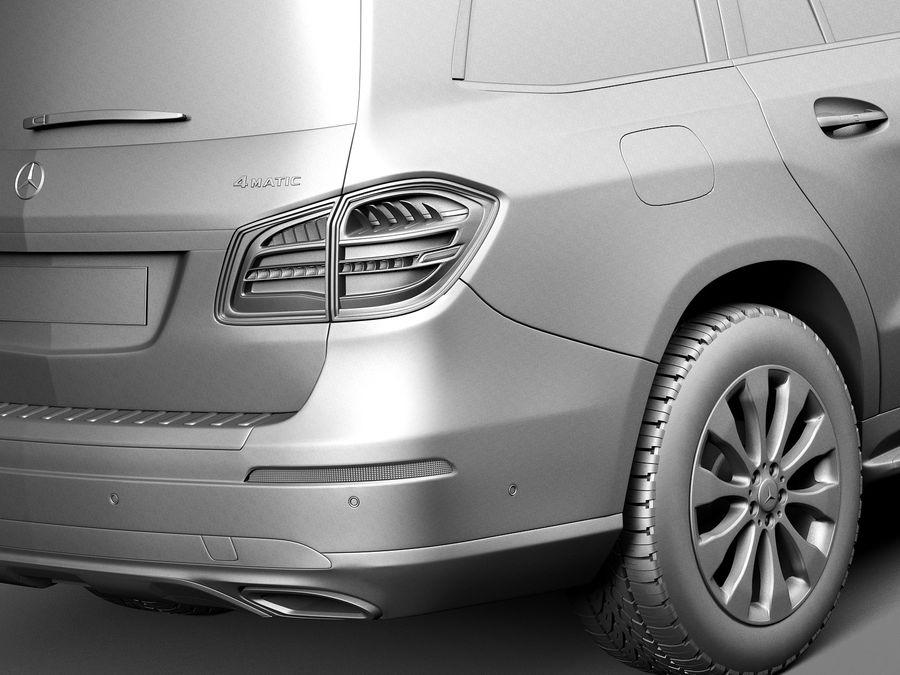 Mercedes-Benz GLS 2017 royalty-free 3d model - Preview no. 11