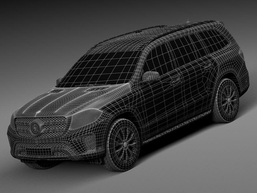 Mercedes-Benz GLS 2017 royalty-free 3d model - Preview no. 15